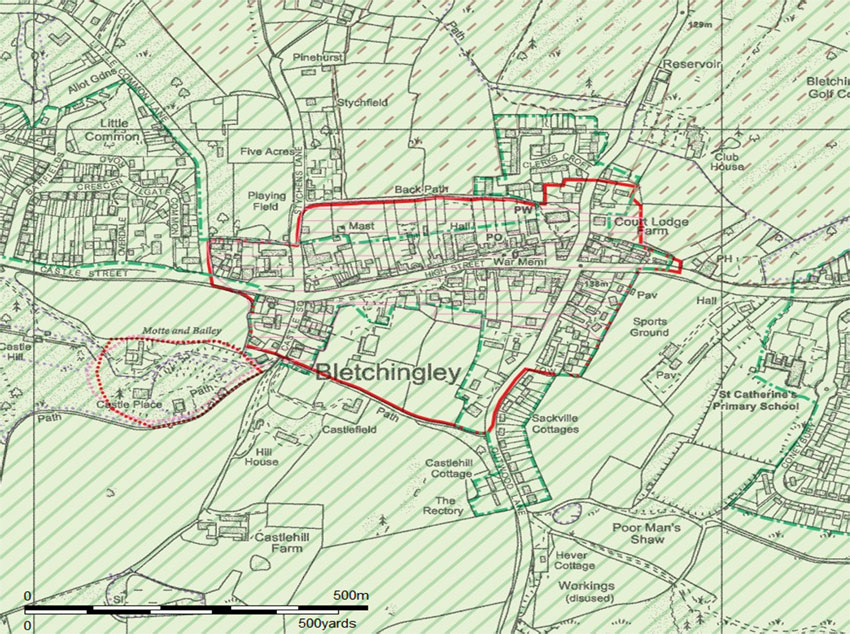 Bletchingley-Con-area-map