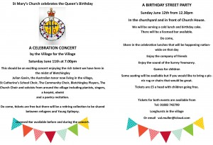 A birthday street party to celebrate the Queens 90th birthday