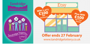 Tandridge Together Lottery is supporting local businesses and good causes with its new prize.