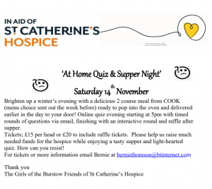 At Home Quiz Night in aid of St. Catherine's Hospice