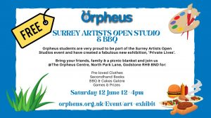 Surrey Artists Open Studio & BBQ at the Orpheus